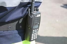 VHF marine radio on pocket